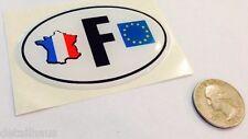 SOFT OVAL F FRANCE BADGE - FRENCH EU  COUNTRY EMBLEM - PEUGEOT CITROEN RENAULT