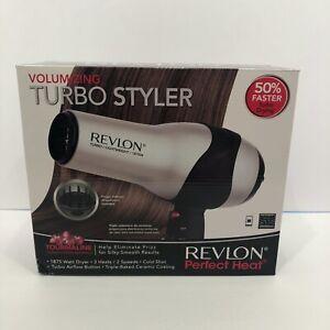 Revlon Hair Dryer 1875W Turbo Styler 3 Heat 2 Speed Setting Diffuser RV473 New
