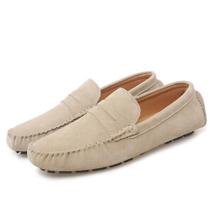 Mens Casual Driving Moccasins Gomminos Slip On Loafers Suede Flats Outdoor Shoes