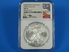 2006 W Burnished Silver American Eagle  NGC Ms 70  Mercanti Signed