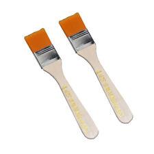 """2pcs Orange Bristle Wooden Handle Oil Painting Paint Brush 1.2"""" Width CR O0 L2x4"""