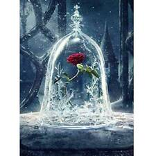 5D Drill Diamond Painting Roses in Glass Embroidery Cross Stitch Kits Wall Decor