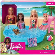 Barbie GHL91 Doll and Playset With Pool Toy Gift for Girls