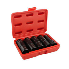 ABN Double Side Lug Nut Socket Set, 5Pc - 1/2-Inch Drive Flip Impact Sockets