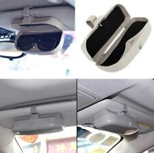Car Vehicle Sun Visor Sunglasses Eyeglasses Glasses Holder Case with Clips Gray