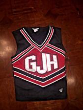 "Gjh Black, Red, & White Cheerleading Uniform Top - Varsity 30"" Bust"