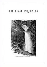 """Sherlock Holmes in """" The Final Problem """" poster by Sidney Paget 1893"""