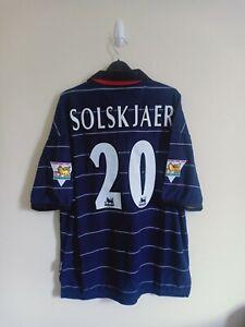 Manchester United Away Shirt 1999/00 SOLSKJAER Size L