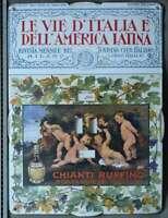 CALENDARIO PERPETUO PUBBLICITARIO CHIANTI RUFFINO ITALIA AMERICA LATINA 1928
