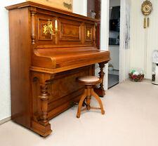 Klavier Antik (um 1900) Wurzelholz, vergoldeter Kerzenhalter
