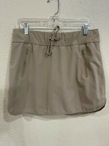 Magellan Women's MagRepel Fish Gear Golf Skirt Skort Tan Size Large