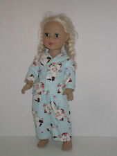 "Vintage Cat Pajamas for 18"" Doll Clothes American Girl"