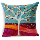 "Art Tree Home Decor Zip Natural Cotton Linen Cushion Cover Pillow 18""/45cm NEW"