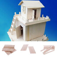 Hot About 48pcs Wooden Popsicle Sticks for Party Kids DIYCrafts Ice Cream Pop