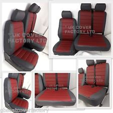FORD TRANSIT MK7  VAN SEAT COVERS MADE TO MEASURE QUILTED  PVC LEATHER  A120J
