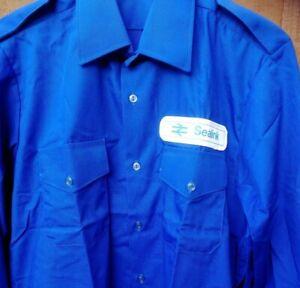 British Rail Sealink Ferries Shirt Blue size medium - large Nautical Guernsey