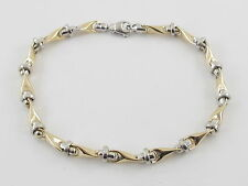 "14K Yellow And White Gold Men's Bracelet 9""  13.5 grams"