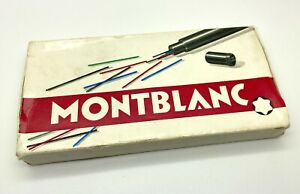 Vintage Mont Blanc Box w/12 Pencil HB Green Leads Tubes, Germany (#S146)