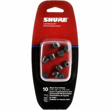 Shure Replacement Black Foam Sleeves - Large (EABKF1-10L)