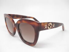 fe6fe1256a9 New Authentic Gucci GG0208S 003 Havana with Brown Gradient Sunglasses GG  0208S
