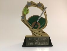 Softball Resin Trophy! Free Engraving! Ships In 1 Business Day!