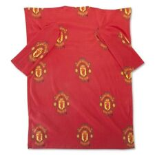 MANCHESTER UNITED FC TEAM SNUGGLE FLEECE JUNIOR BLANKET WITH SLEEVES 86x112cm