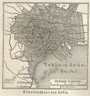 B0817 Japan - Tokyo - Carta geografica d'epoca - 1890 Vintage map