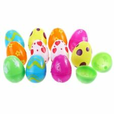Plastic Easter Eggs Assortment Party Favor For Easters Egg Hunt 12 Pcs / Set New