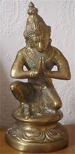 Antique Superb Hollow Cast Brass Indian Deity Temple Statue Depicting Hanuman