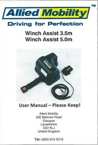 NEW UNIVERSAL WINCH ASSIST KIT 3.5M / 5M 225KG (WITH USER MANUAL & WARRANTY)