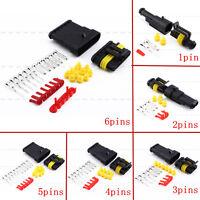 1/2/3/4/5/6 Pins Connecteur électrique Prise Etanche Fil auto Moto Fiche Plug
