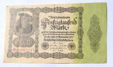 1922 Berlin Germany, 50,000 Mark Reichsbanknote