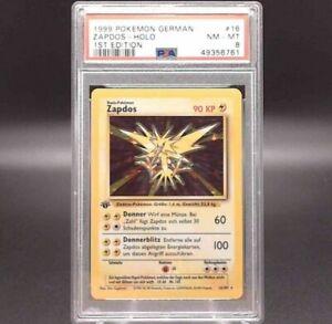 Pokémon Zapdos 16/102 German 1st Edition PSA 8 NM - MINT Holo WOTC 1999