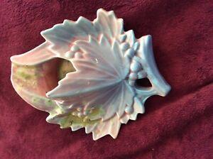 Vintage McCoy Leaf Form #5 Windproof Ashtray Pink Blue Beautiful Excellent NR!