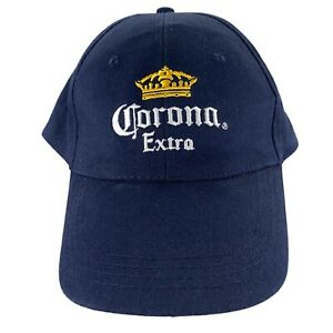 Corona Extra Men's Beer Adjustable Strapback Navy Blue Baseball Hat Cap