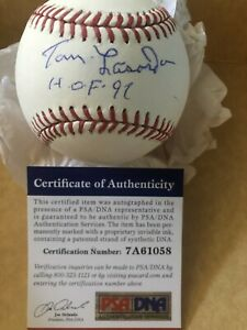 Dodgers Tommy Lasorda Hall of Fame 97 Signed Autographed Baseball PSA/DNA COA