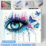 Framed/Unframed 40*50cm Eye Paint By Numbers Kit Canvas Art Painting Wall Decor