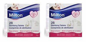 2 x Milton Sterilising Tablets, Maximum Protection 28 Pack See description