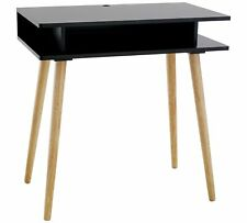 Habitat Cato Black Desk Console Table with Solid Wood Legs - Brand New