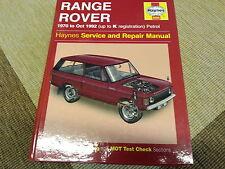 Reparaturanleitung Range Rover Service and Repair Manual 1970-1992