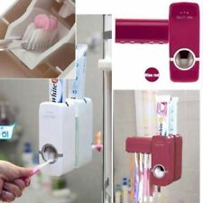 RoseRed Automatic Toothpaste Dispenser  5 Toothbrush Holder Set Wall Mount Stand