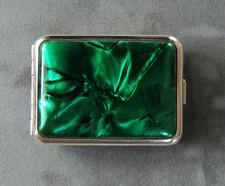 Hansaware Italian Green Bakelite Small Pocket Pill Case Made in Germany 1066