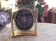 Vintage Seiko Desk- MantleTable Quarts Clock Brass Base and Frame  Japan