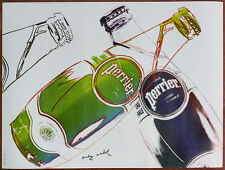 ANDY WARHOL ORIGINAL 1983 POSTER PERRIER FRENCH WATER POP ART MODERN