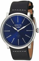 Invicta Men's Quartz Stainless Steel and Leather Casual Watch