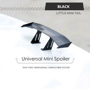 Black Mini Spoiler Car Auto Tail Decoration Spoiler Wing Carbon Fiber Universal