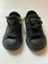 Converse All Star Chuck Taylor Black Shoes~size 3 C Free Shipping