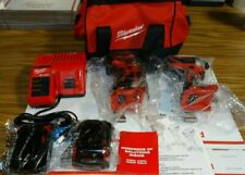 Milwaukee BRUSHLESS Drill & Impact Kit 2850-20 & 2801-20 + (2) Battery + Charger