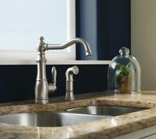 Moen Weymouth S72101SRS Spot Resist Stainless Kitchen Faucet w/Sidespray