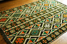 135 cm x 200 cm Orientalischer Teppich, Kelim ,Carpet Rug Damaskunst S 1-4-411